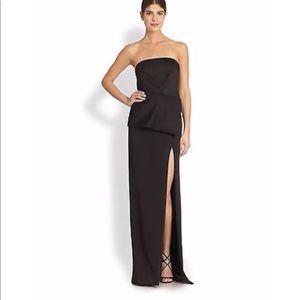 Black Halo Eve long casual maxi gown dress Sz 10